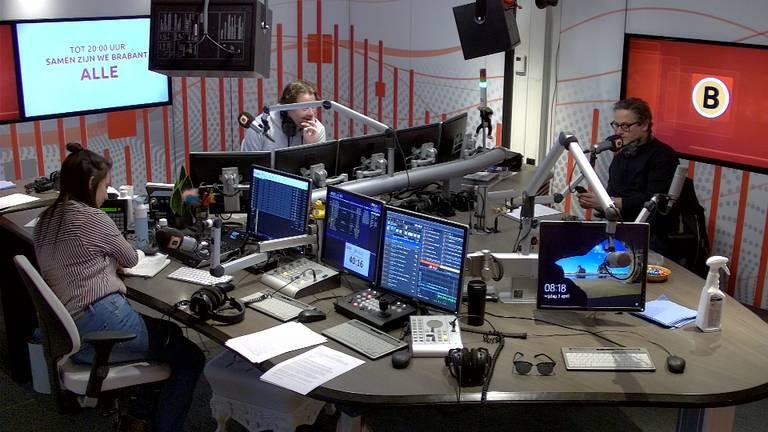 De radiostudio van Omroep Brabant.