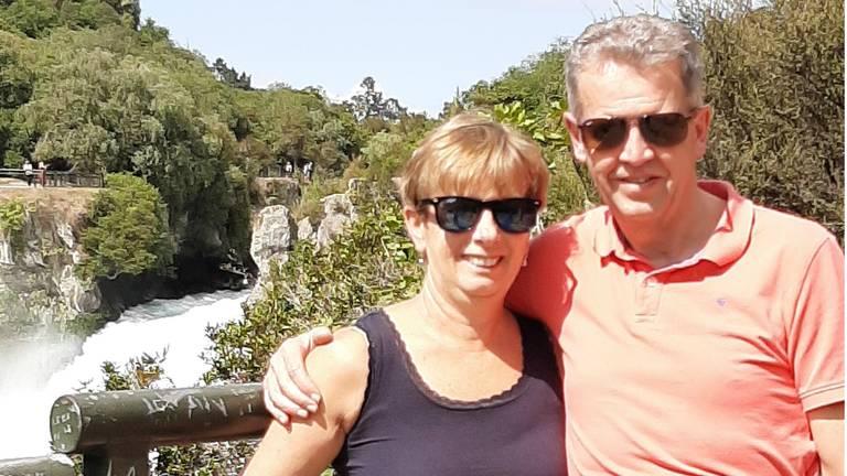 Lenie en Hans Siebers tijdens hun rondreis