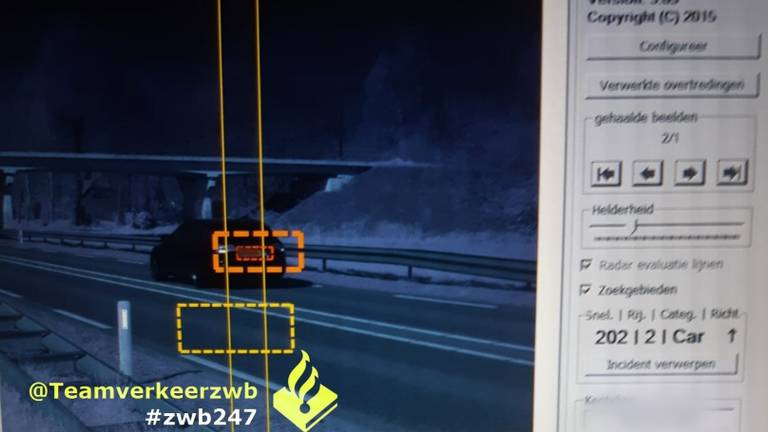 Op de N267 reed iemand 120 kilometer per uur te hard.