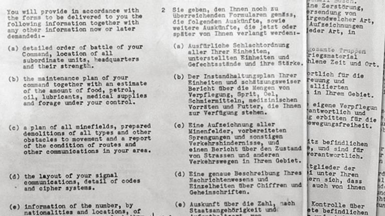 Fragment van de overeenkomst van Wageningen (foto: NIMH)