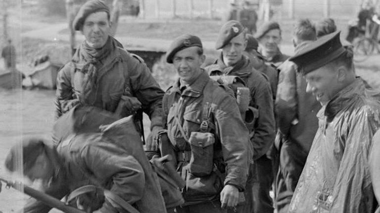 De Britse commando's op de dagen rond de actie in de Biesbosch (foto: IWM)