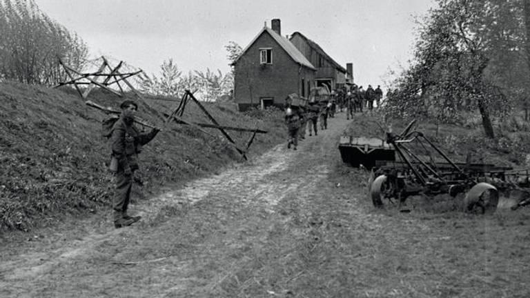 De commando's tijdens hun actie in de Biesbosch (foto: IWM)
