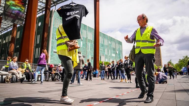 Protest tegen coronamaatregels (foto: Sem van Rijssel/ SQ Vision).