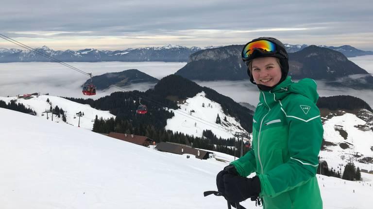 Emy wil doorgraag een ski-opleiding doen (Foto: familie Van Oss)