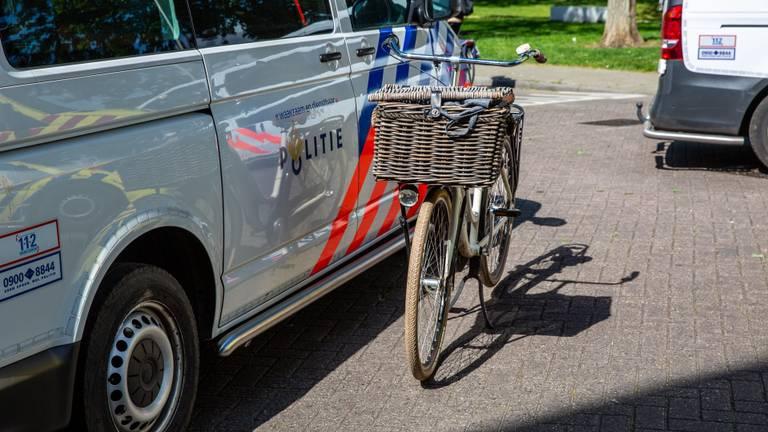 De fiets van het slachtoffer. (Foto: Christian Traets / SQ Vision)