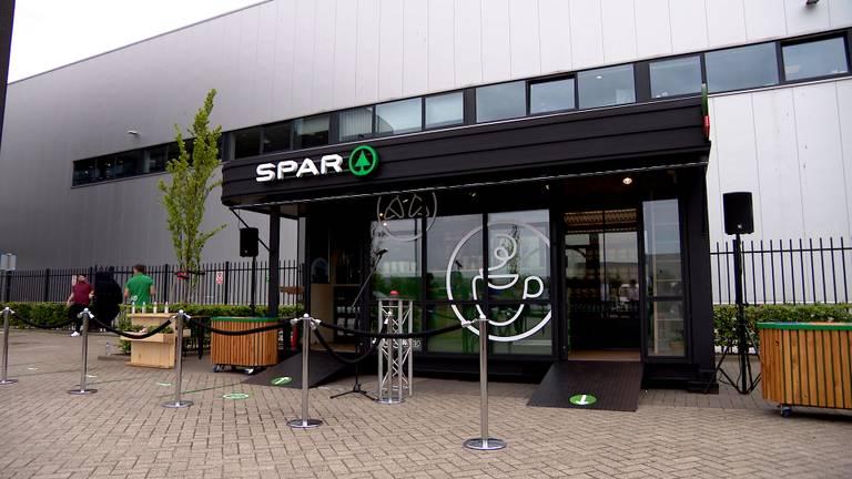 De minisupermarkt van Spar. (foto: Omroep Brabant)