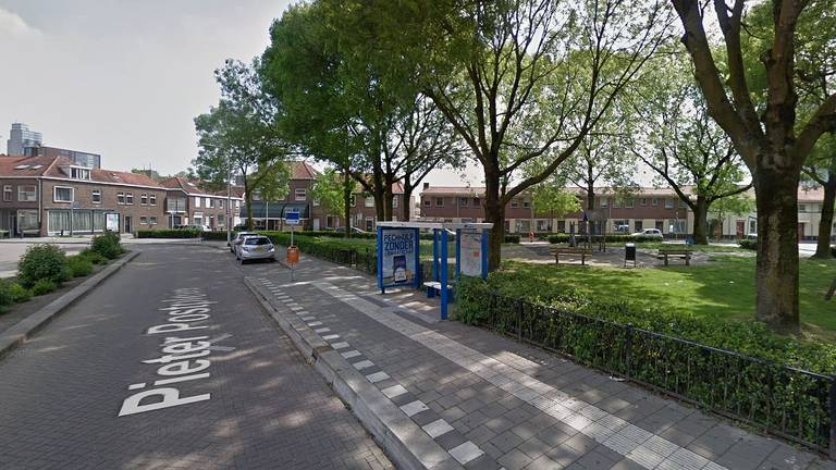 Het Pieter Postplein in Tilburg (foto: Google Streetview).