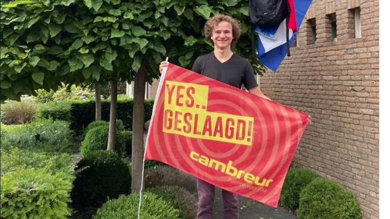 Jens van Dongen is al geslaagd maar gaat toch herkansen. (eigen foto)