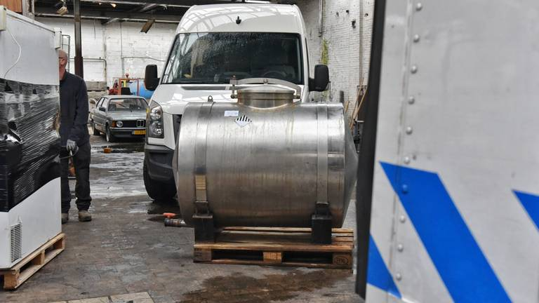 Een van de ketels in het bedrijf (foto: Toby de Kort/SQ Vision).