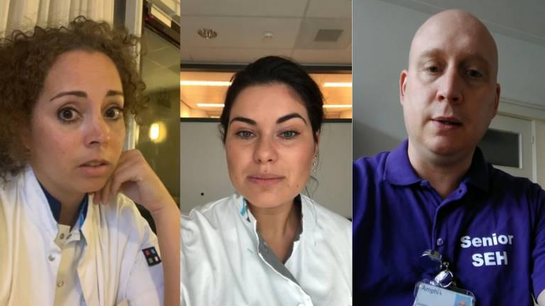 Sabine, Demi en Arjan vloggen over hun werk in de Brabantse ziekenhuizen