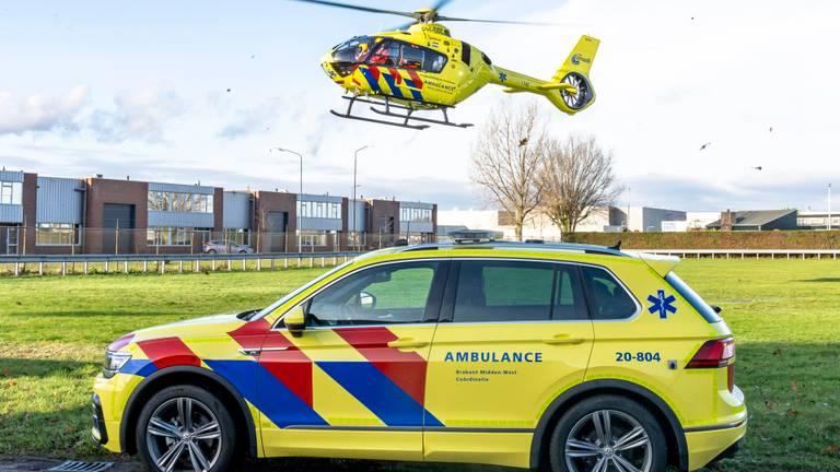 Hulpdiensten komen ter plekke (foto: SQ Vision Mediaprodukties).