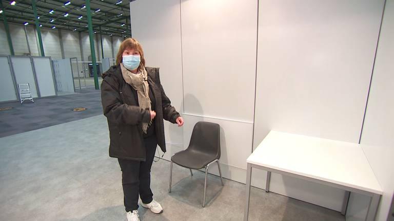 Hier zullen mensen plaats gaan nemen. voor de vaccinatie.