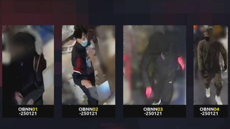 De vier relschoppers in Den Bosch (foto: politie).