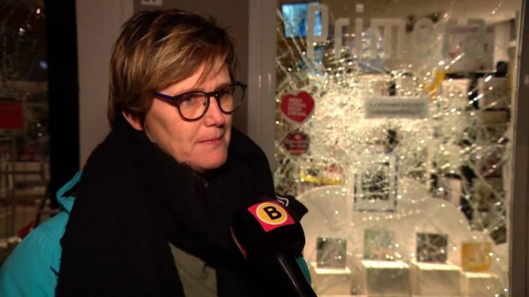 Maaike Neuféglise, direct nadat ze de schade had bekeken.