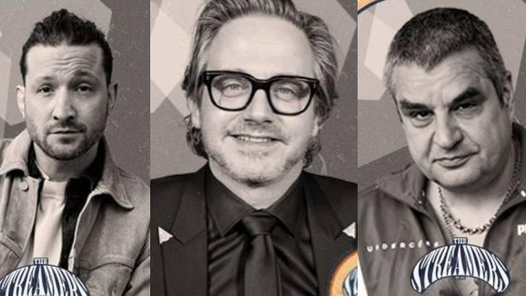 The Streamers met Kraantje Pappie, Guus Meeuwis en manager Frank Lammers.