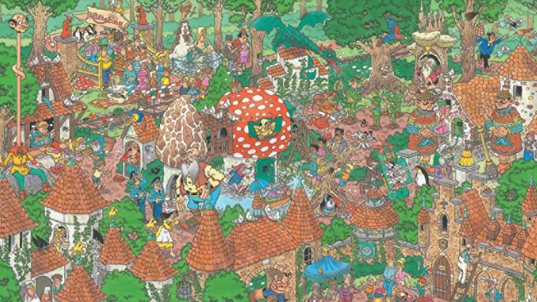 Een deel van de nieuwe Jan van Haasteren-puzzel (foto: Media Tornado).