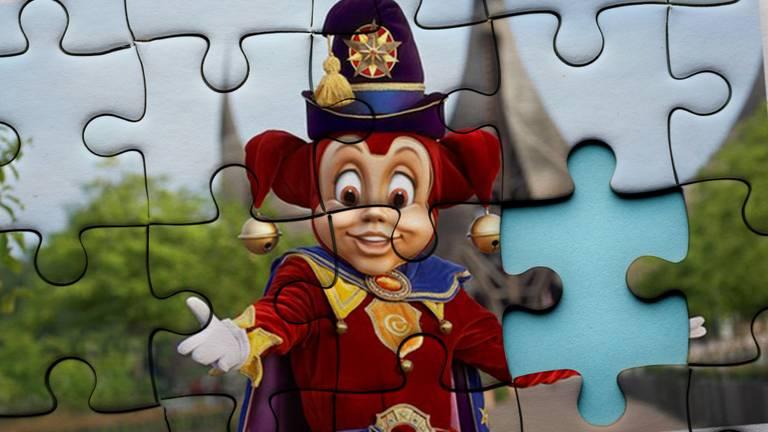 De Efteling in puzzelvorm heeft duizend stukjes (archieffoto).
