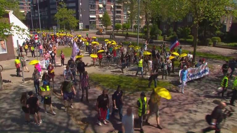 Demonstratie Walk of Freedom in Eindhoven