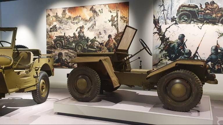 Een van de jeeps die te zien is in het Oorlogsmuseum in Overloon, de Crosley Pup (foto: Oorlogsmuseum Overloon).
