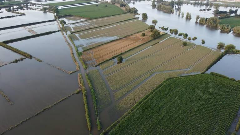 De velden van Daan staan onder water.
