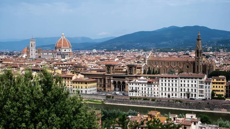 Florence, met zicht op beroemde dom (foto: ANP 2021/Astrid Huis).