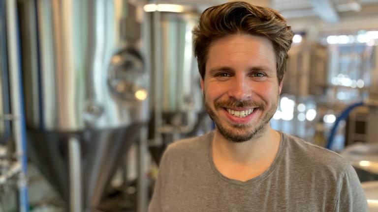 Gijs Verhagen van bierbrouwerij Rabauw (Foto: Alice van der Plas)