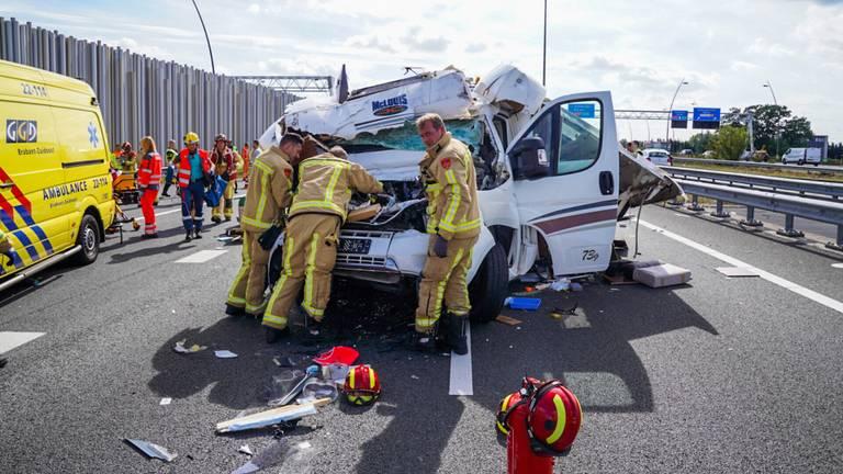 Het ongeluk op de A2. Foto: SQ Vision