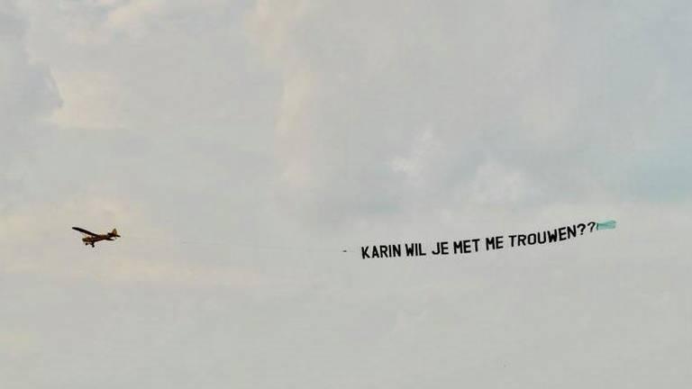 Veel mensen in Uden zagen dit vliegtuig
