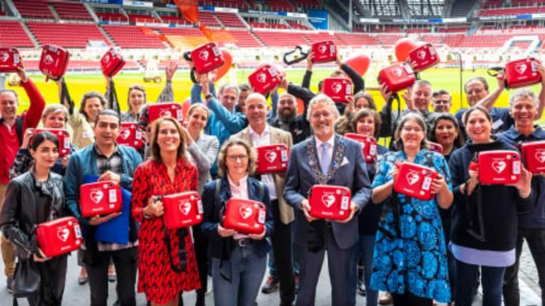 Een groep vrijwilligers (foto: Philips).