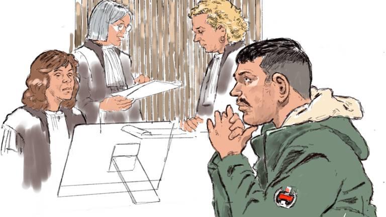 Oguz Ö. tijdens een eerdere zitting (foto: ANP).