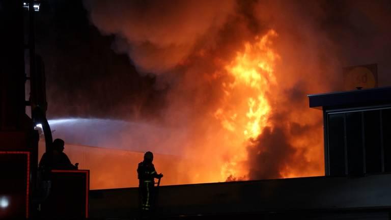 Grote brand in Tilburg