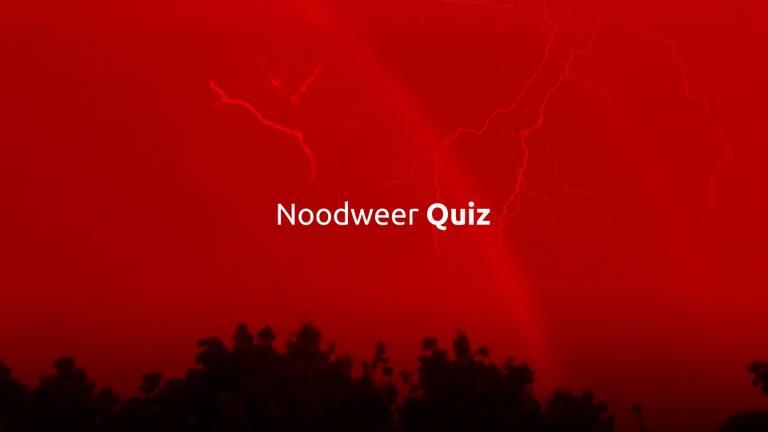 Test je kennis over noodweer in Brabant
