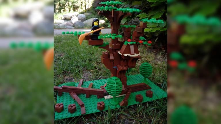 De echte variant van de Heksenboom in Bladel werd genomineerd tot mooiste boom van Europa, deze LEGO-variant van Pim en Marijn mag er ook zeker zijn!
