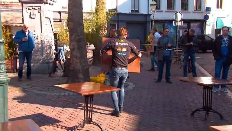 De terrassen worden buiten gezet in Breda