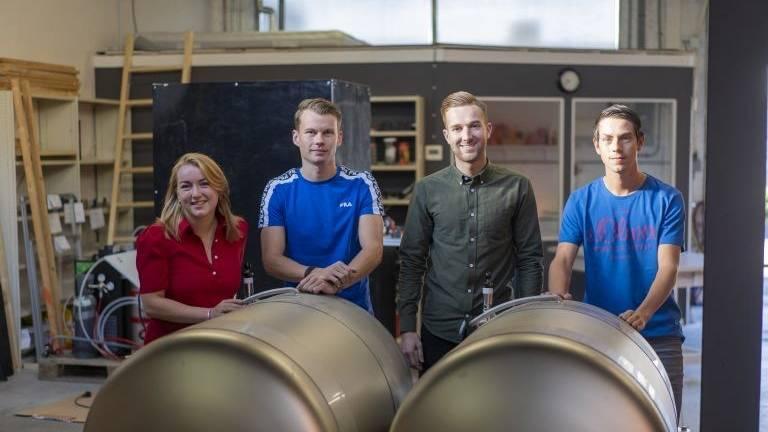 Deze jonge Bosschenaren bedachten de 'BeerMate'. (Foto: Ralph Bethlem)