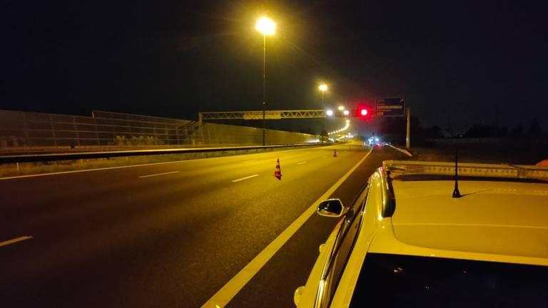 De politie hield een snelheidscontrole (foto: Twitter Team Verkeer Zeeland-West-Brabant).