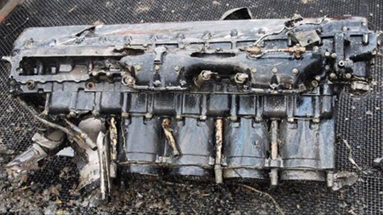 Bergers Lancaster vonden in 2014 onder meer het motorblok terug van het vliegtuig