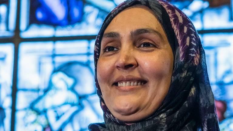 Djamila Mohammedi bleef kinderen opvangen en hielp veel ouders buiten werktijd (foto: Dankraam Tilburg).
