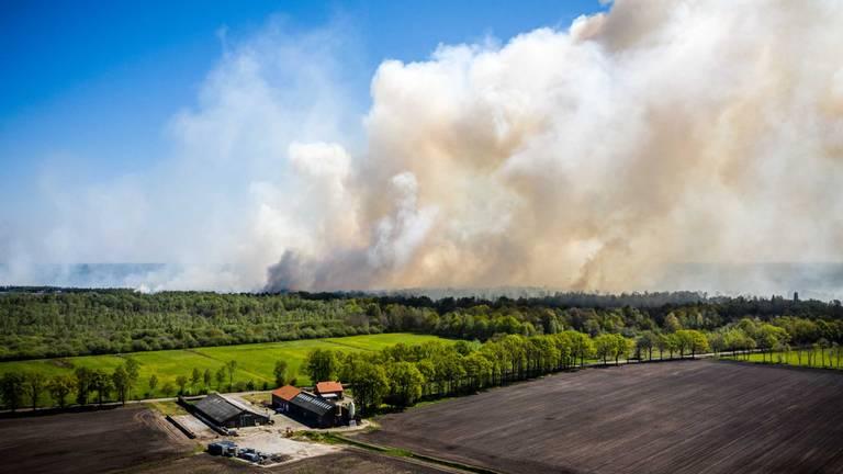 Grote natuurbrand Deurnese Peel (archieffoto: Rob Engelaar).