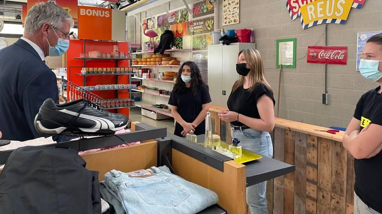 De 'winkel' in praktijkschool De Rijzert.