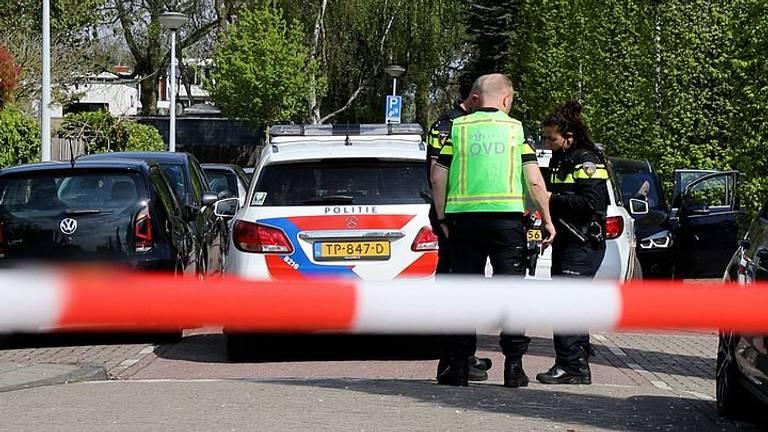 Onderzoek bij het huis van Zahavi (foto: Politie).