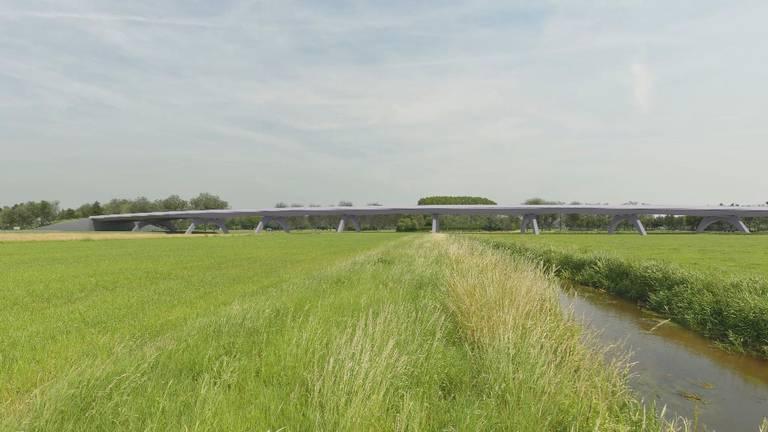 Zo gaat een van de enorme bruggen bij de nieuwe N69 eruitzien.