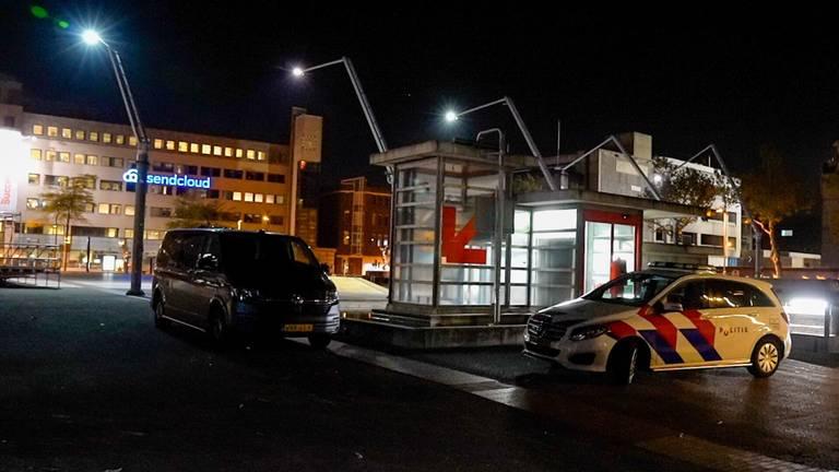 De politie in de binnenstad van Eindhoven (foto: Dave Hendriks/SQ Vision).
