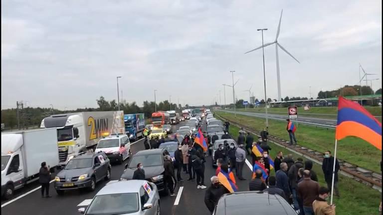 Huidige situatie op de snelweg.