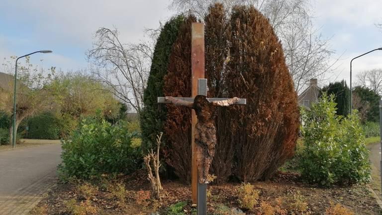 Het alternatieve Christusbeeld in Lithoijen (foto: Omroep Brabant).