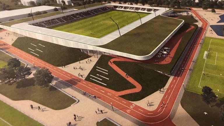 Het nieuwe stadion De Braak dat in 2023 klaar had moeten zijn.