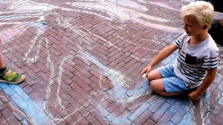 De tekening van een van de kinderen in Westerhoven.