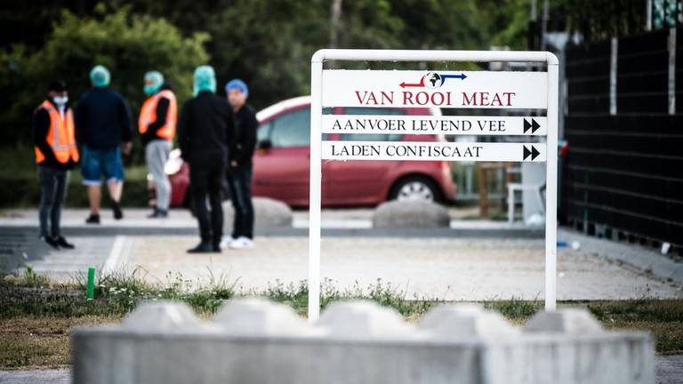 Van Rooi Meat in Helmond is voorlopig gesloten (foto: Rob Engelaar).