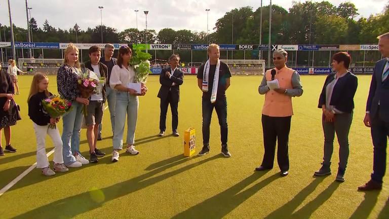Er waren mooie woorden voor Marijne (foto: Omroep Brabant).