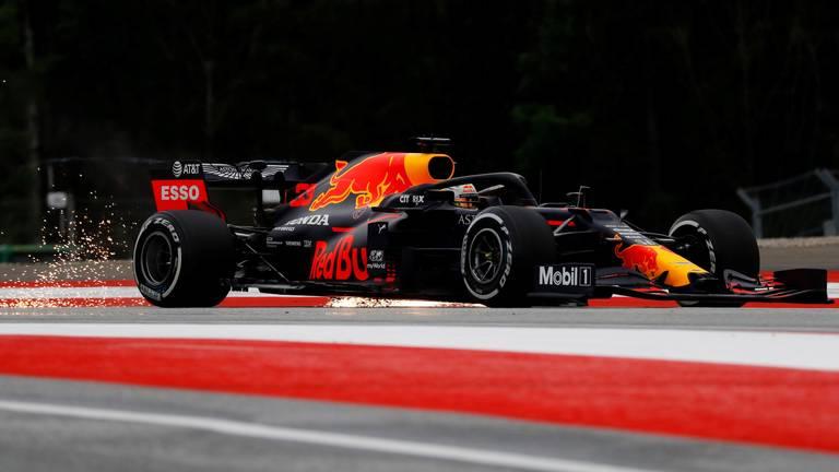 Max Verstappen op het circuit van Spelberg